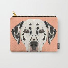 Dalmatian // Peach / Apricot Carry-All Pouch