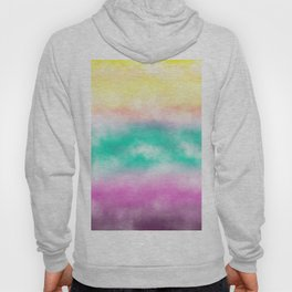 Fruity Cloudscape - grape purple, aqua green & citrus yellow skyscape Hoody