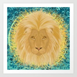 Lion Sun King Art Print
