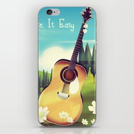 Take it Easy guitar poster. iPhone Skin
