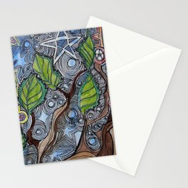 cosmic tree Stationery Cards