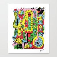 ice cream Canvas Prints featuring Ice Cream by Rabassa
