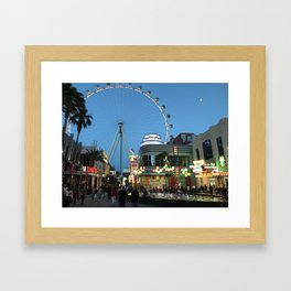 High Roller Observation Wheel in Las Vegas Framed Art Print