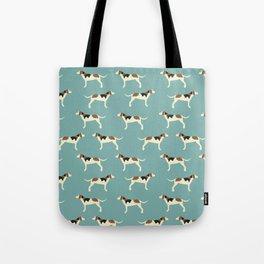 Tree Walker Coonhound in blue Tote Bag