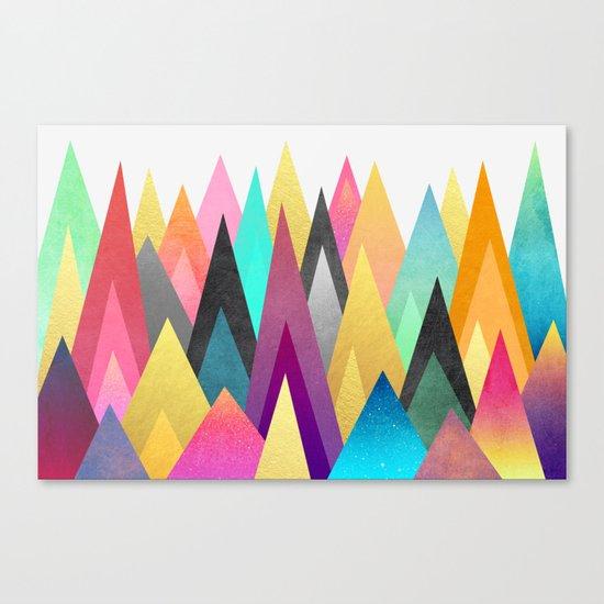 Dreamy Peaks Canvas Print
