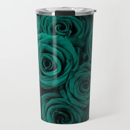 emerald green roses Travel Mug