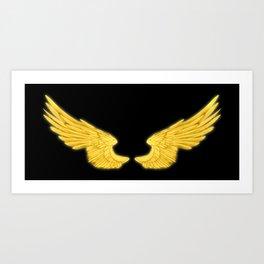 Golden Angel Wings Art Print