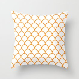 Orange Scallops Throw Pillow