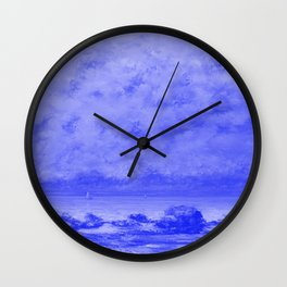 The Black Rocks at Trouville Japanese Porcelain Concept Wall Clock