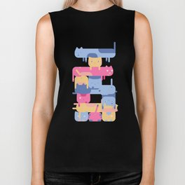 Stacked Cats Biker Tank