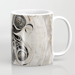 Violin Butterfly  - Watercolor and gold Coffee Mug