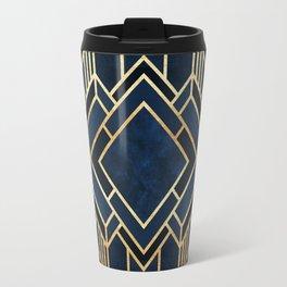 Art Deco Fancy Blue Travel Mug