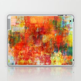 AUTUMN HARVEST - Fall Colorful Abstract Textural Painting Warm Red Orange Yellow Green Thanksgiving Laptop & iPad Skin