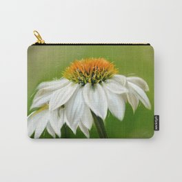 Little White Cone Flower Carry-All Pouch