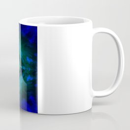 Blue columns in Abstract Coffee Mug