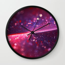 Cowberry Glitter Wave Wall Clock