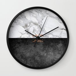 Calm Chaos, Typography Wall Clock