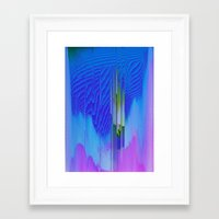 waterfall Framed Art Prints featuring Waterfall by DuckyB