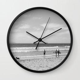 Strollin on Dog Beach Wall Clock
