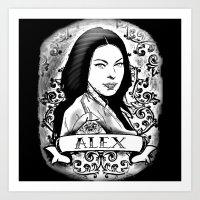 alex vause Art Prints featuring Alex Vause by SwanniePhotoArt