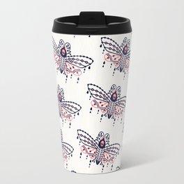 Death's Head Hawkmoth – Blush & Navy Palette Travel Mug