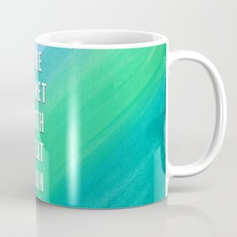 Make Planet Earth Great Again Blue and Teal Watercolor Coffee Mug