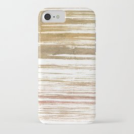Light taupe abstract watercolor iPhone Case
