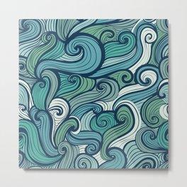 Intertwined Waves Metal Print