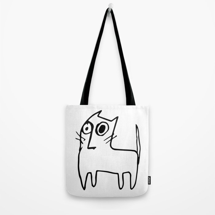 A mangy, miffed and slightly damaged cat Tote Bag