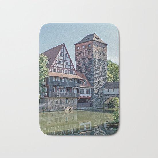 Romantic Nuremberg, -Franken-Bavaria-Germany Bath Mat