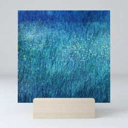 Night in the flower meadow Mini Art Print
