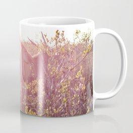 Eland walking through grasslands in South Africa at sunset Coffee Mug