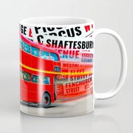 Classic London - Red Double Decker Bus Coffee Mug