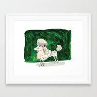 poodle Framed Art Prints featuring Poodle by Elizabeth Graeber