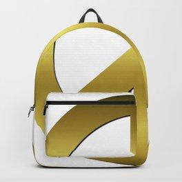 Golden CND Peace Symbol Backpack