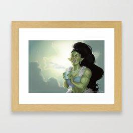 Tûgrosh's Morning Coffee Framed Art Print
