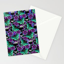 Luna Moth Pattern Stationery Cards