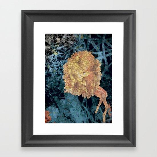 Something on Her mind.. Framed Art Print