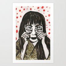 Love Forever Yayoi Kusama Art Print