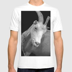 black goat Mens Fitted Tee MEDIUM White