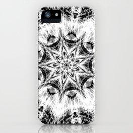 Atomic Black Center Swirl Mandala iPhone Case