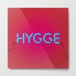 HYGGE - red-blue Metal Print