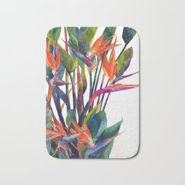 The bird of paradise Bath Mat