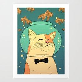 Cat's Dream Art Print