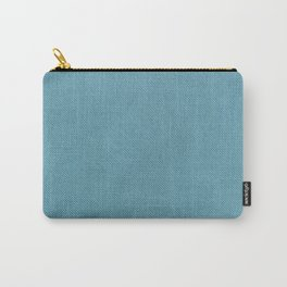 Solid Turquoise Blue Carry-All Pouch