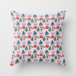 Pacific NW Print Throw Pillow