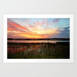 Sunset And Reflections Art Print