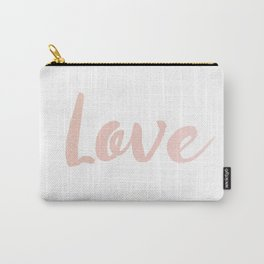 Love in Rose Gold Carry-All Pouch