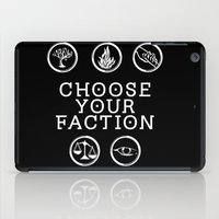 divergent iPad Cases featuring Divergent - Choose Your Faction (White) by Lunil