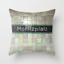 Berlin U-Bahn Memories - Moritzplatz Throw Pillow
